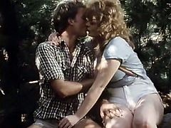 Light and curly haired MILF with big boobs and pretty tight huge ass got her kitty pounded in doggy and missionary poses. Have a look at that steamy outdoor sex in The Classic Porn sex video!