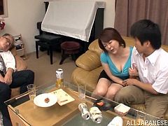 Take a look at this hardcore scene where this cock thirsty Asian milf is fucked by a stud that makes her hit some high notes.
