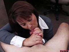 Married wife fucked by pawnshop keeper