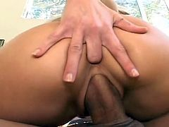 Young babe's wet cherry is about to get fully enlarged by huge dick during top hardcore scene