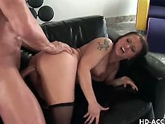Charming brunette Katja Kassin mostly fantasized by men because of her horniness and her tight yummy privates. She obliged to do it on her tight ass and got her wet very fast.