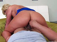Phoenix Marie is a milf babe with perfect body. She is good at fucking and this POV video shows it very well. Busty blonde mom rides stiff cock reverse and shakes her beautiful big booty!