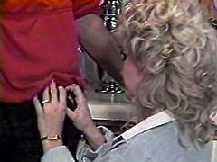 Curly haired whorish cougar with big sexy tits presented stout BJ to her bellowed guy. Look at that steamy oral sex in The Classic Porn sex clip!