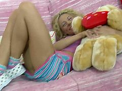 Make sure you don't miss cute teen babe Bryana getting ready to experience her very first orgasm. She looks like a girl who plays with toys, but her pussy wants to cum.
