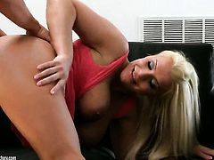 Blonde Sadie Swede gets her twat drilled hard and deep by her man in a variety of positions