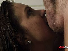 Check out this amazing hardcore scene where the beautiful Maddy O'Reilly is fucked silly by a large cock in the shower until she's covered by this guy's cum.