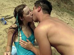 Gorgeous Alexis Crystal enjoys some outdoor sex on the beach as she gets fucked hard by her hung scuba diving instructor.