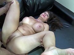Slutty and busty brunette with nice ass gets her tight pussy fucked hard doggystyle. Have a look at this chick in My XXX Pass sex clip.