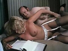 Light haired chubby bitch in nurse suit presented stout deep throat to that fat thirsting stud. Have a look at that dirty sex in The Classic Porn sex clip!