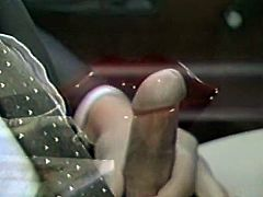 Curly haired torrid bitch seized staff penis of her grey haired stud and got to swallow it greedily. Look at that zealous jade in The Classic Porn sex clip!