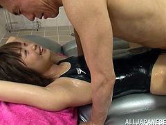 Japanese Teen Gets Oiled Up And Fucked