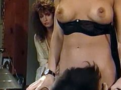 Hot and zelous brunette and her boyfriend get into passionate FFM threesome with sexy blond haired slut. Chicks share his cock and blow him in turns.