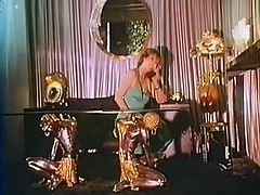 Watch this vintage FFM threesome with two whorable sluts in lacy lingerie pleasing one lucky guy and getting their holes pounded in turns.