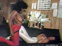 Take a look at this hot vintage video where these sexy ebony ladies make you pop a boner as they have sex.