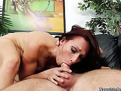 With round ass and clean pussy squeezes the cum out of Dane Cross s dick with her wet hole