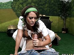 Mark Ashley has a good time fucking Trina Michaels with massive tits in the deadeye