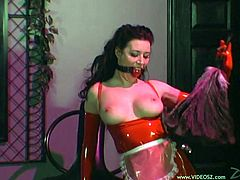 The beautiful babe Anastasia Pierce gets tied up and cruelly tortured by the gorgeous Jean Bardot in a nasty BDSM session.
