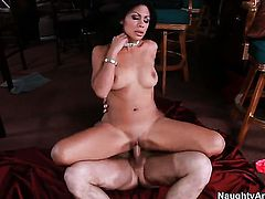 Chachita Cassandra Cruz fucks a lot with horny dude John Strong before getting orgasm