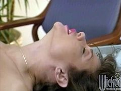 Get a load of this amazing vintage scene where the sexy Teri Weigel is fucked silly by a guy with a thick cock as you hear her moan.