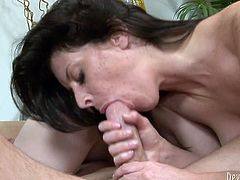That threesome is incredibly perverted. Bitchy black haired wifey watches her kinky hubby fucking long haired blond tramp in cowgirl pose. After that she sucks that smelly cock greedily. Just take a look at that dirty FFM fuck in Fame Digital porn video!