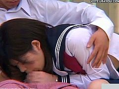 Amateur asian couple gets down and dirty outdoors. She gives head and before you know it, they're fucking. You can see it all through the voyeur cam!