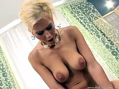 Check out this hardcore scene and watch the slutty blonde Anastasia Devine end up with an amazing creampie after being fucked by this guy.
