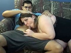 The sexy big girl Jen K has the time of her life sucking this hard cock and ends up taking a hard fuck up her sexy chubby pussy.