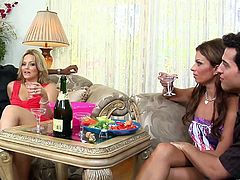 Captivating milfs Alexis Texas and Bailey Brooks are having fun with two men indoors. Alexis and Bailey please the guys with blowjobs and ride their wangs remarcably well.