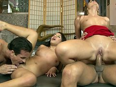 Curvy Beauties Get Drilled And Jizzed In This Hot Foursome