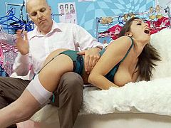 Romanian girl Sensual Jane spanked