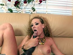 The horny MILF Audrey Hollander gobbles two big hard cocks and enjoys a yummy anal before getting her filthy mouth filled with hot cum.