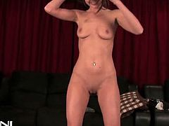 Victoria Lawson just can't wait to take her clothes off and start riding the Sybian. She spreads legs to receive a nice orgasm!