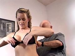 Take a look at this hardcore scene where the sexy Nina Ferrari is fucked silly by this guy on camera as her man watches.