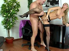 Bootyful office slut Cherry Cream gets brutally fucked from behind