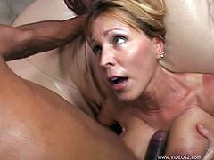 Stunning mom has mutual oral sex with dude before getting doggyfucked and riding cock on top. Then she gets her snapper hammered in a sideways and missionary positions.