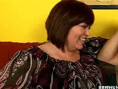 Milf hunter always comes up with those horniest mature pickups bbw. This time she got Joli, a horny brunette bbw mature. She is as horny as fuck as she talks about sex life at first and its extreme.