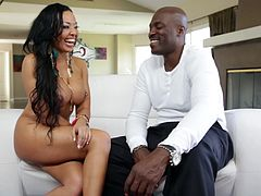 Lexington Steele answers busty Rio Lee some question