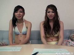 Delightful Minori Hatsune And Her Slutty GF Serve Amazing Handjobs