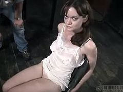 Look at Hazel Hypnotic bloody red ass get spanked as hard as fuck. Not to mention her boobies and her body too are victimized by this extreme bdsm. She got tied up outdoors after that.