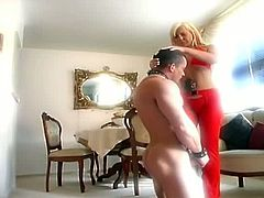 Girls In Control brings you a hell of a free porn video where you can see how this alluring blonde mistress whips her slave's hot firm ass while assuming very hot poses.