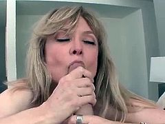 Hot MILF enjoys meaty cock