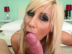 Check out this hardcore POV where the busty blonde milf Puma Swede takes a bath and masturbates with a dildo before sucking and being fucked by a big cock.