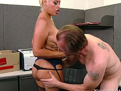 Hot office whore Bridgette B gets brutally fucked by Mark Ashley