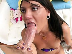 Cassandra Nix shows her love for dick sucking in blowjob action with hot bang buddy