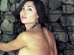 The hot Belen Lavallen will get you hard as a rock as she strips off her sexy lingerie and lets you have a look at her perfect ass and her yummy boobs.