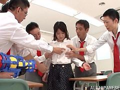 Arisa Misato is gangbanged by her horny students