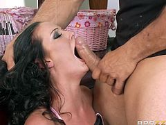 Check out this hardcore scene where the sexy brunette Hailey Young has her tight asshole stretched out by this guy's thick cock after being eaten out.