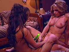 Have fun with this hot scene where these horny ladies make you pop a boner as they please one another in this hot video.