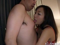 Check out this hardcore scene and watch this beautiful Japanese babe being eaten out and fucked by this guy as you hear her moan.