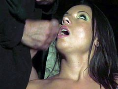 Make sure you have a look at this hardcore scene where the sexy brunette Vanessa Mae is fucked up her tight asshole after sucking on this guy's thick cock.